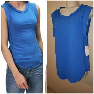 Free People blue muscle tee shirt